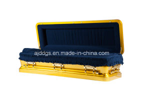 Gold Full Couch Casket (16179054-F) pictures & photos