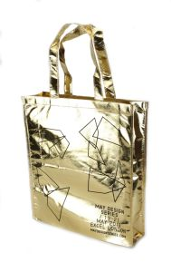 Gold Laminated Non-Woven Beach Tote Shopping Bag for Promotion pictures & photos