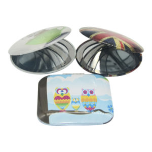 Metal Aluminium Round or Square Compact Pocket Custom Mirror pictures & photos