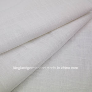Polyester Plain White Wide Width Inherently Flame Retardant Fireproof Voile pictures & photos