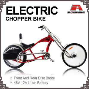 New 24*4.125 Tire Electric Chopper Bike (AOS-E-03) pictures & photos
