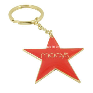 Star Keychain with Red Epoxy Dome pictures & photos