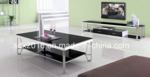 Living Room Furniture Glass Table with 2 Layers pictures & photos