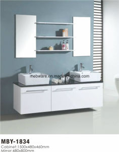 MDF Double Sink Bathroom Vanity Cabinet pictures & photos