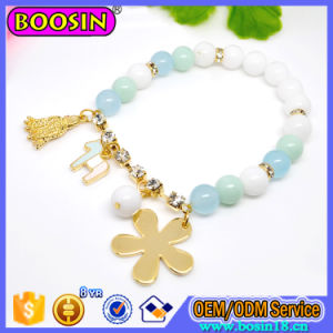 Wholesale Fashion Alloy Clover Clasp Leather Bracelet pictures & photos