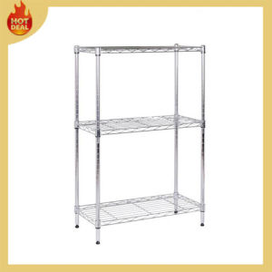 Chrome Wire Mesh Rack, Kitchen Wire Shelving and Metal Rack, Collapsible Steel Wire Shelving pictures & photos
