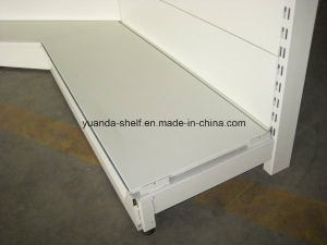 Hot Sale Cold Rolled Steel Supermarket Inner Corner Wall Shelf pictures & photos