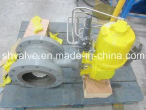 Pneumatic Cast Steel Wcb/Lcb RF Flanged V Port Ball Valve