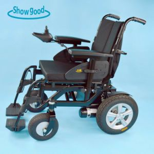 Showgood Light Weight Electric Folding Wheelchair with Brush Motor