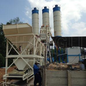 Hzs50-50m3/H Skip Hoist Type Concrete Mixing Plant Manufacturer pictures & photos