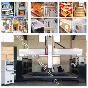 Discount Price High Z CNC 3D Stone Engraving Machine / 5 Axis Stone CNC Tool Routing and Saw Cutting Machine pictures & photos