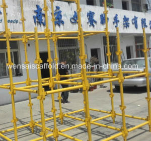 Painted Steel Kwikstage Scaffold for Construction Project
