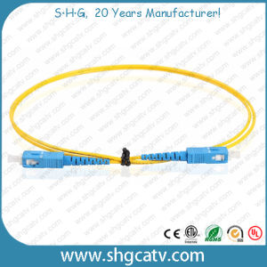 High Quality Sc/Upc Fiber Optical Patch Cord (SC/UPC-SC/UPC) pictures & photos