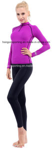 Two-Piece Lycra Rash Guard, Swimwear, Sports Wear, Yoga Wear pictures & photos