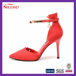 Red Color Sexy Lady High Heel Women Shoes pictures & photos