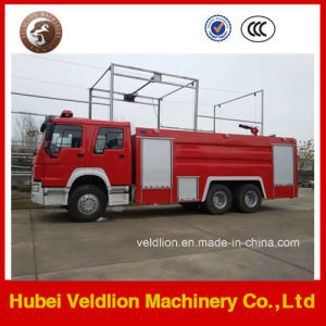 HOWO 6X4 Drive LHD/Rhd 10m3/10cbm/10000liters Fire Truck pictures & photos