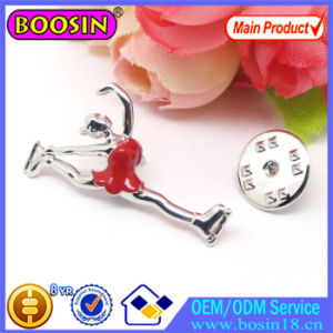 China Wholesale Cusotm Dancing Girl Gymnastics Pin Brooch #51173 pictures & photos