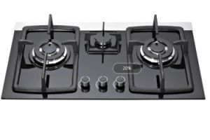 Factory Directly Sell Built in Tempered Glass 3 Burners Gas Cooker pictures & photos