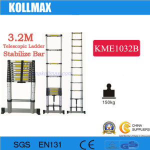 3.2m Telescopic Ladder with Stabilizer Bars pictures & photos