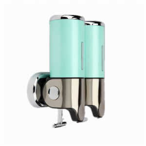 Green 500ml*2 Stainless Steel+ABS Plastic Wall-Mountained Liquid Soap Dispenser pictures & photos