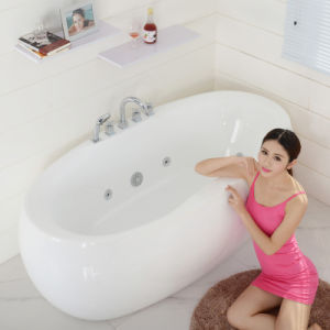 Indoor Portable Classic Massage Whirlpool Acrylic Jetted Bathtub (SF5A003) pictures & photos