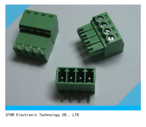 Screw Terminal Block Connector 3.81mm Angle 4 Pin Green Pluggable Type pictures & photos
