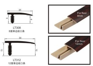 Laminate Flooring End Profiles PVC Wrapped Wearable Foil pictures & photos