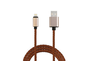 1m PU Leather USB Data Charge Cable for iPhone5