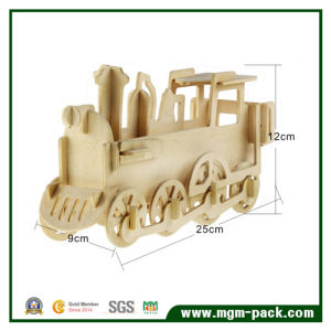 Wholesale DIY 3D Puzzle Wooden Train for Promotional Gift pictures & photos
