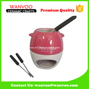 Bone China Food Pot Chocolate Fondue Sets From Factory pictures & photos