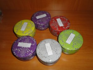 Various of Pure Soy Wax Aroma Tin Candles pictures & photos