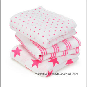 Muslin Cotton Swaddle Blanket Set for Baby with Elegant Design pictures & photos