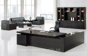 Hot Sale Wooden Black Color Melamine Executive Office Desk (HF-BD010) pictures & photos