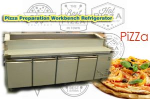 Four Doors Pizza Preparation Workbench Refrigerator pictures & photos