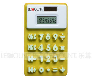 13cm 8 Digits Dual Power Silicon Calculator with Megnet (LC511A) pictures & photos