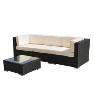 Black Outdoor Rattan Sectional Sofa Set pictures & photos