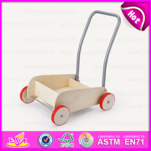 2015 Natural Wooden Pull and Push Go Cart, Funny Go-Cart Kids Play Baby Cart Toy, Hot Sale Children Wooden Toy Go Cart W16e028d pictures & photos