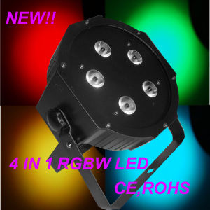 Cheap 5X10W RGBW Plastic Housing DJ Lighting