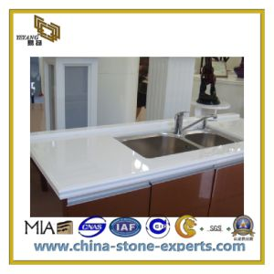 Natural Polished Artificial Stone Quartz for Countertop, Kitchen Floor (YQC) pictures & photos