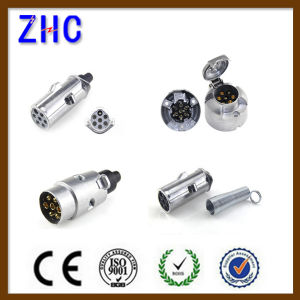 European Type 12V 24V 7 Pole Aluminum Mini Trailer Plug & Socket pictures & photos