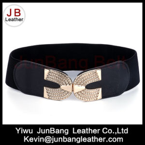 Noble Fashionable Elastic Black Wide Belts for Women Wholesale Manufacturer