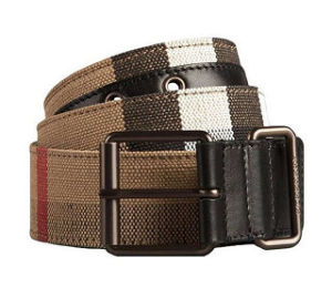 Men′s Pants Woven Nylon Webbing Braided Belt Custom Waistband Belt