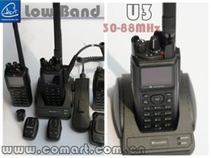 30-56MHz Low Band Hand-Held Military Radio, VHF&UHF Hand-Held Two Way Radio for Emergency Rescue