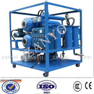 Double-Stage Vacuum Transformer Oil Purifier Online Working (two horizontal evaporator) pictures & photos