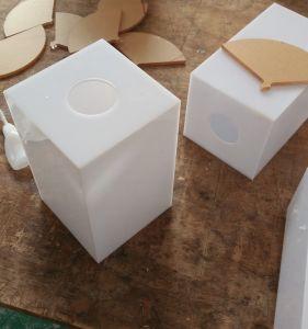 Square Milk White Acrylic Light Box pictures & photos
