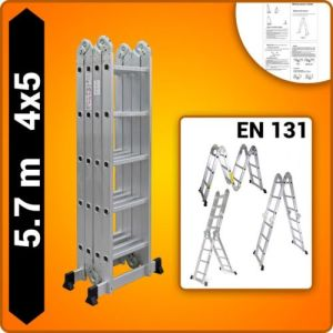 4X5 Foldable Multipurpose Multifunction Aluminium Ladder with Twin Stabilizers pictures & photos