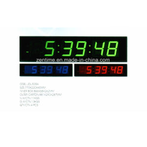 Large Electric Large LED Color Digit Display Wall Time Clock pictures & photos