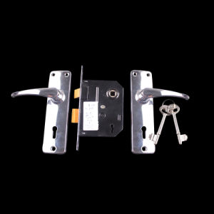 "2296-3"" Aluminum Handle Iron Surface Plated Door Handle Lock pictures & photos"