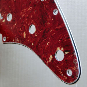 USA Standard 11 Holes Red Tortoise Strat Guitar Pickguard pictures & photos