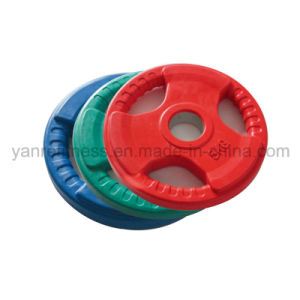 Multicolor Olympic Weight Plates with 3 Handgrips Rubber pictures & photos